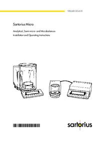 Satorius MC 410 S