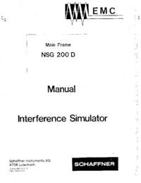 Schaffner NSG 200 D