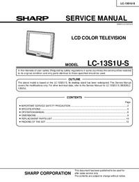 Sharp LC-13S1U-S