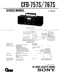 Sony CFD-767-S