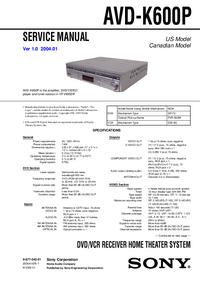 Sony AVD-K600P
