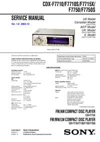 Sony CDX-F7710S