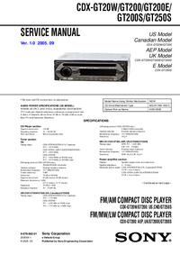 Sony CDX-GT200