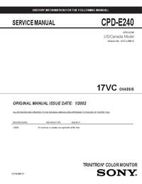 Sony CPD-E240