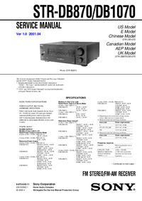 Sony STR-DB870