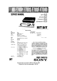 Sony HB-F700P