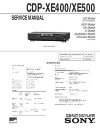 Sony CDP-XE400