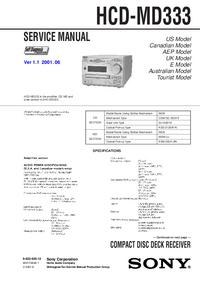 Sony HCD-MD333