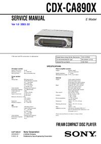 Sony CDX-CA890X