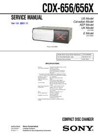 Sony CDX-656X