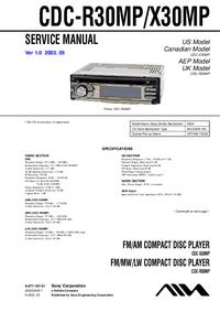 Sony CDC-X30MP