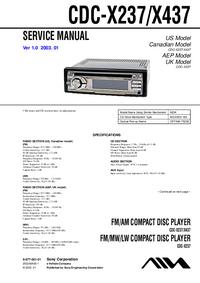 Sony CDC-X237