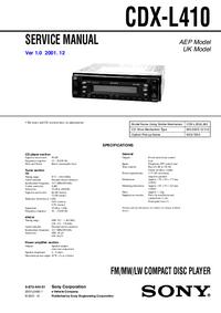 Sony CDX-L410