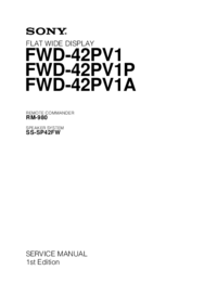 Sony FWD-42PV1P