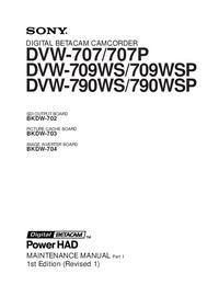 Sony DVW-709WS