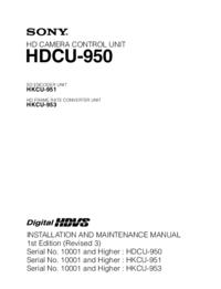Sony HKCU-953