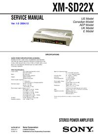 Sony XM-SD22X