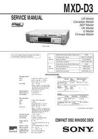 Sony MXD-D3
