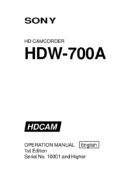 Sony HDW-700A