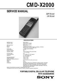 Sony CMD-X2000