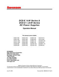 Sorensen DCS10-120E