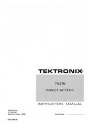 Tektronix 7A21N