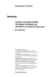 Tektronix TDS2000 Series
