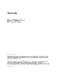 Tektronix Phaser 850