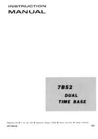 Tektronix 7B52