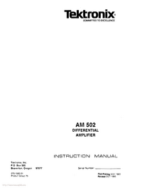 Tektronix AM 502