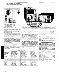 Tektronix TR502