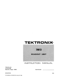 Tektronix 7M13