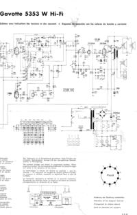 Service Manual, cirquit diagram only Telefunken - Gavotte 5353 W Hi