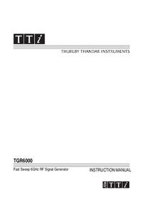Thurlby TGR6000