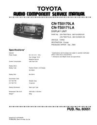 Toyota CN-TS0171LA