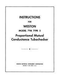 Weston 798 Type 2