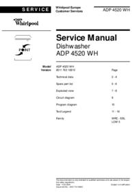 Whirlpool ADP 4520 WH