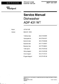 Whirlpool ADP 431 WT