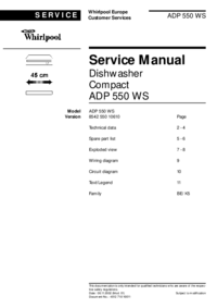 Whirlpool ADP 550 WS