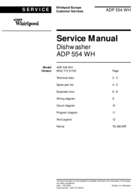 Whirlpool ADP 554 WH