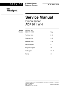 Whirlpool ADP 941 WH