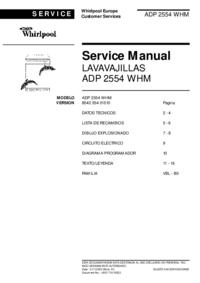 Whirlpool ADP 2554 WHM