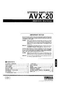 Yamaha AVX-20