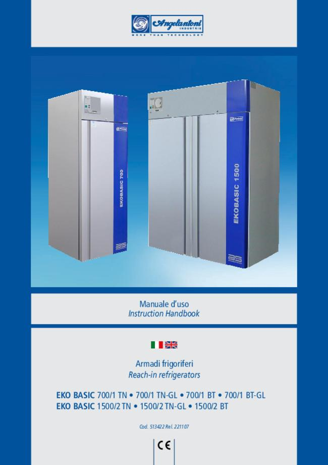User Manual Angelantoni EKO BASIC 1500/2 BT