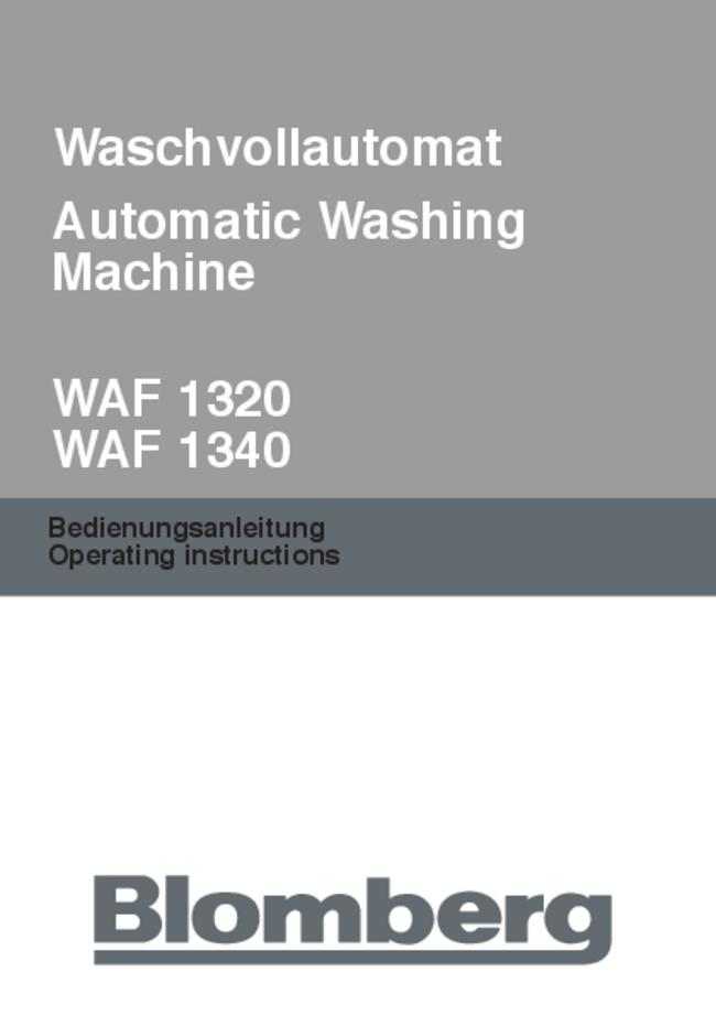 User Manual Bloomberg WAF 1320