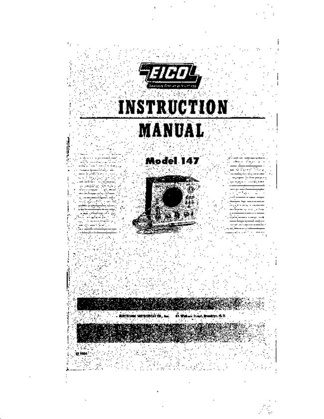 Service and User Manual Eico 147