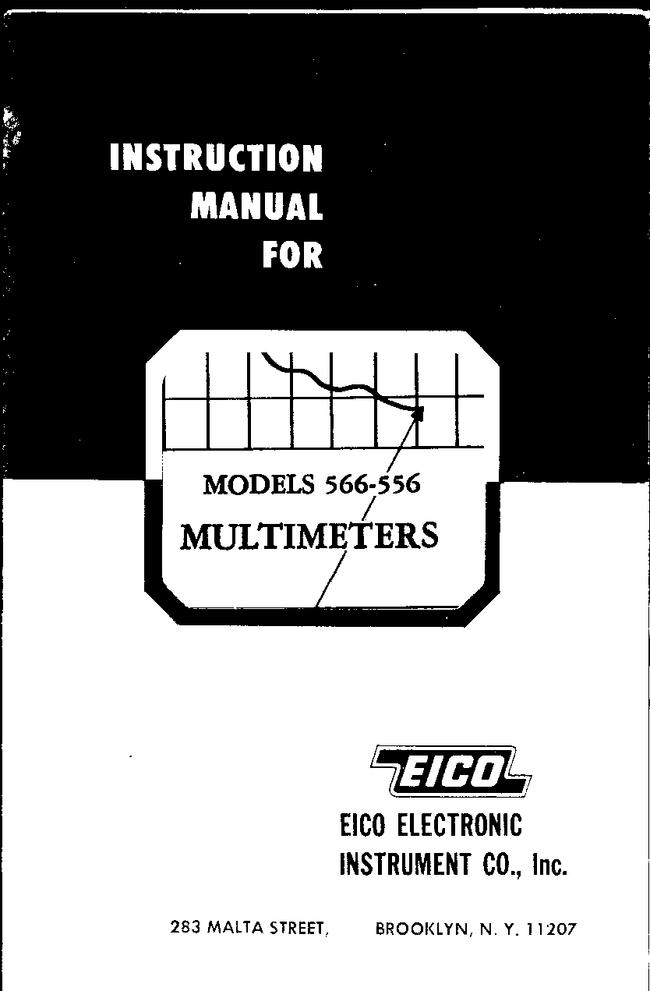 Service and User Manual Eico 556
