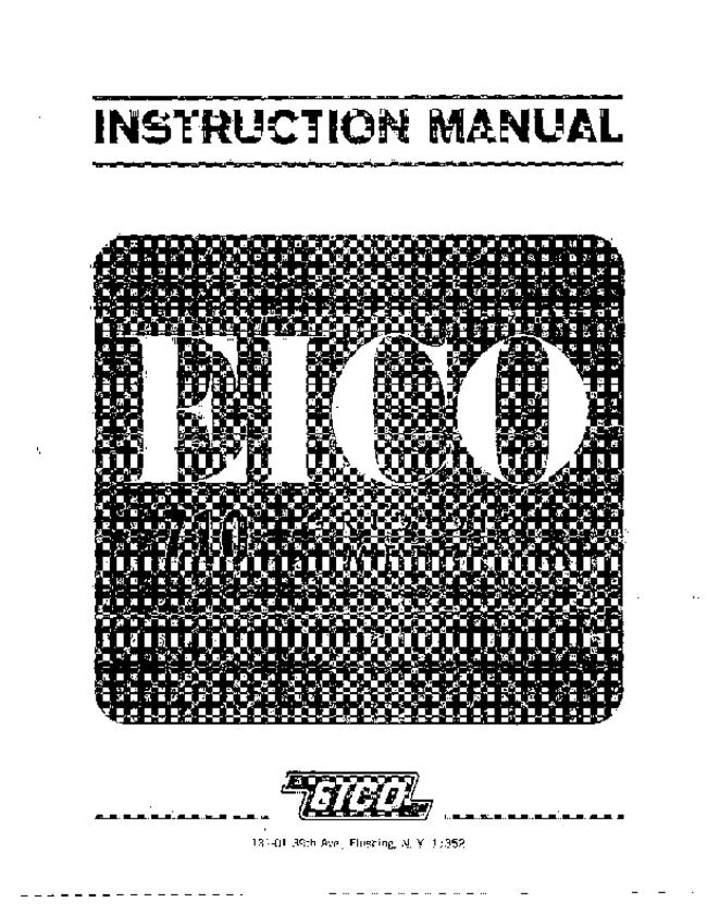 Service and User Manual Eico 710