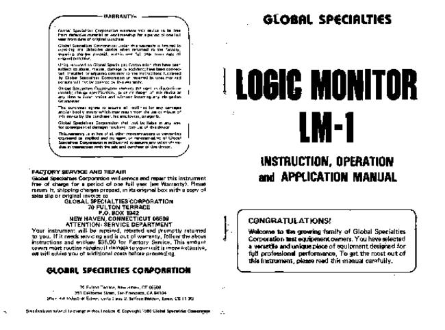 Service and User Manual Global_Specialties_Corp LM-1