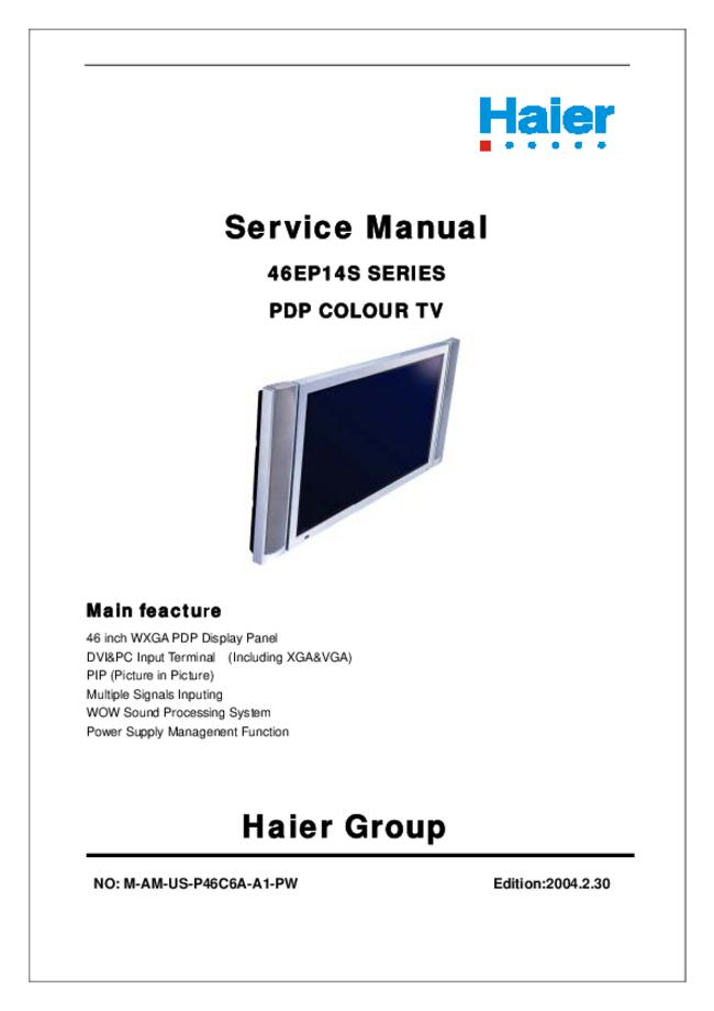 Service Manual Haier 46EP14S SERIES